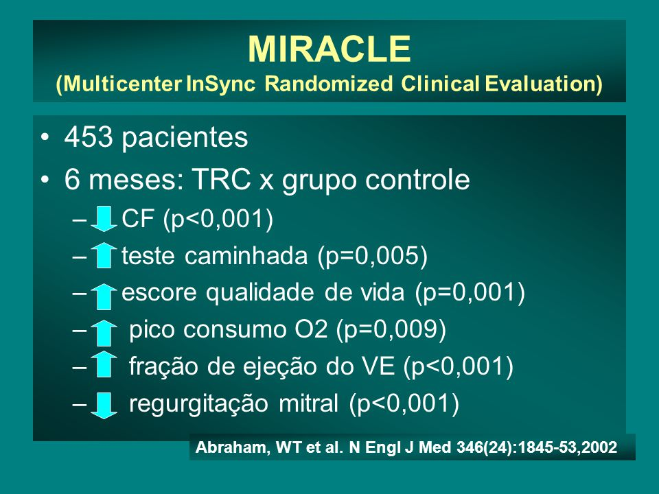 MIRACLE (Multicenter InSync Randomized Clinical Evaluation)