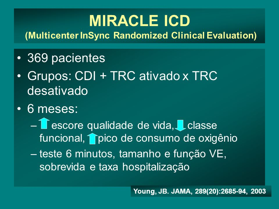 MIRACLE ICD (Multicenter InSync Randomized Clinical Evaluation)