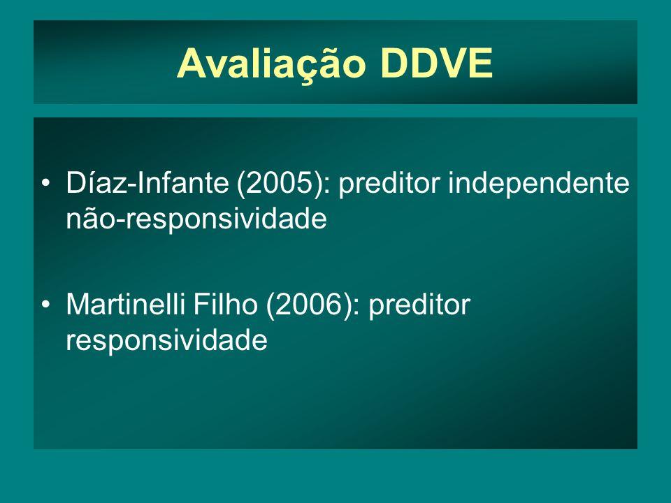 Avaliação DDVE Díaz-Infante (2005): preditor independente não-responsividade.