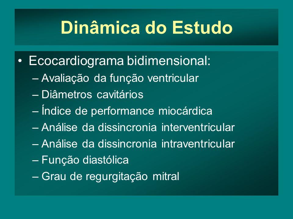 Dinâmica do Estudo Ecocardiograma bidimensional:
