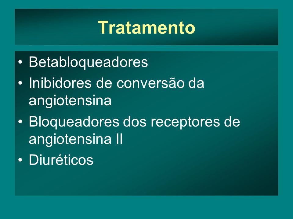 Tratamento Betabloqueadores Inibidores de conversão da angiotensina
