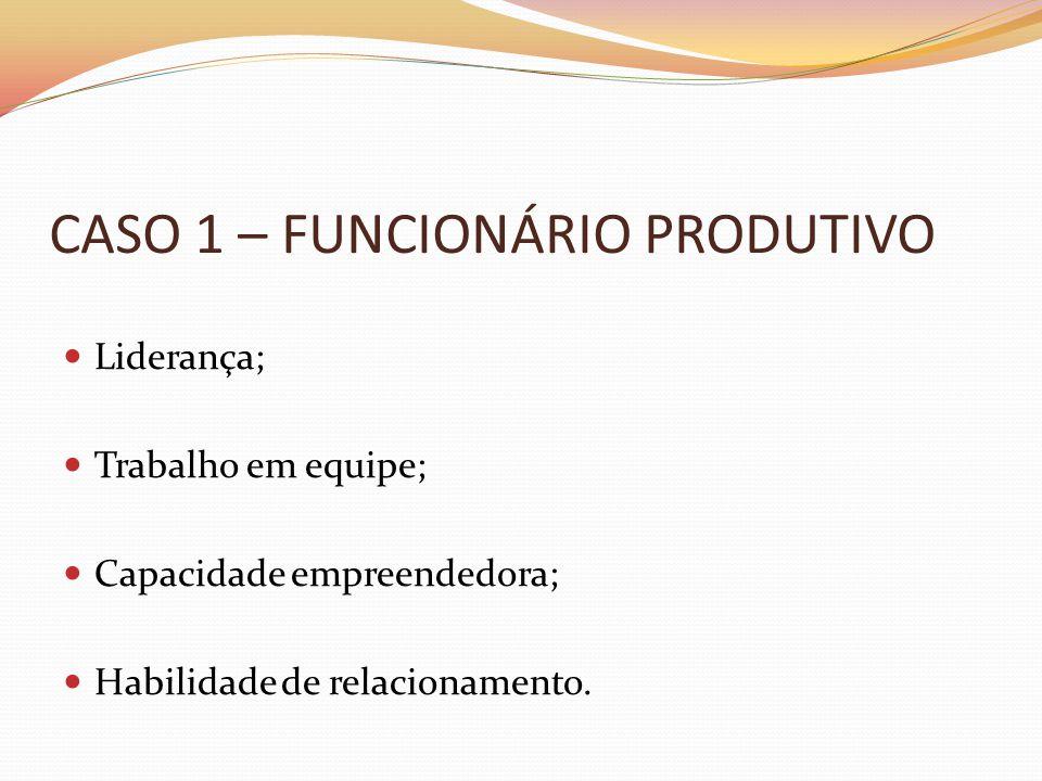 CASO 1 – FUNCIONÁRIO PRODUTIVO