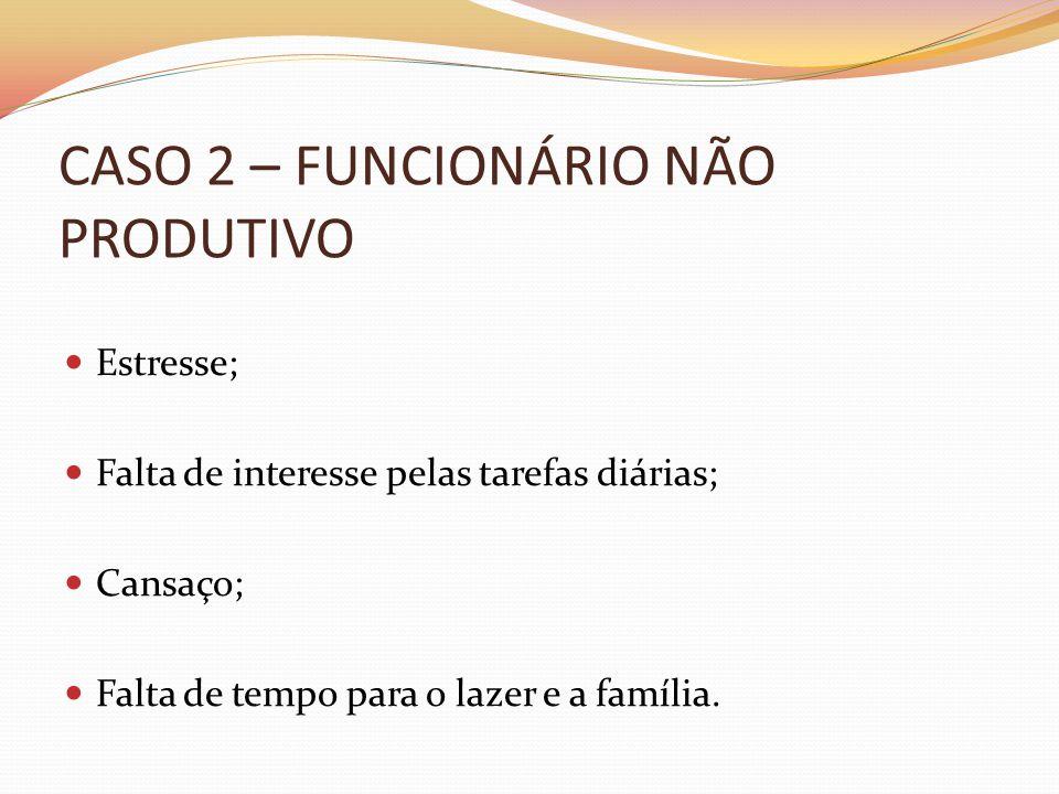 CASO 2 – FUNCIONÁRIO NÃO PRODUTIVO