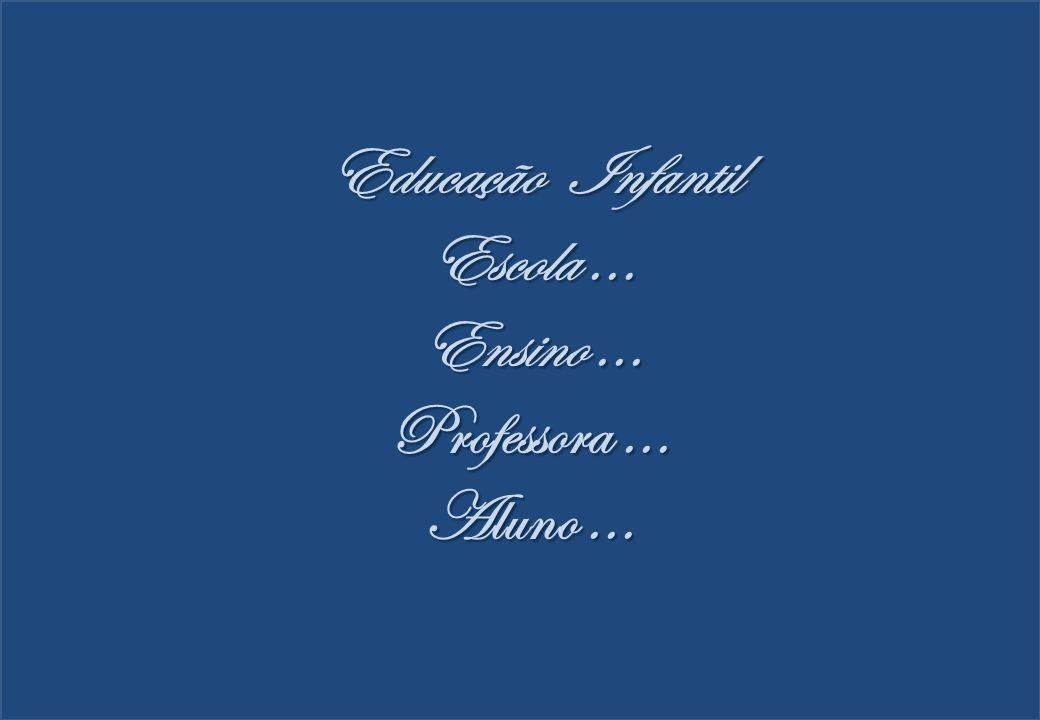 Educação Infantil Escola ... Ensino ... Professora ... Aluno ...