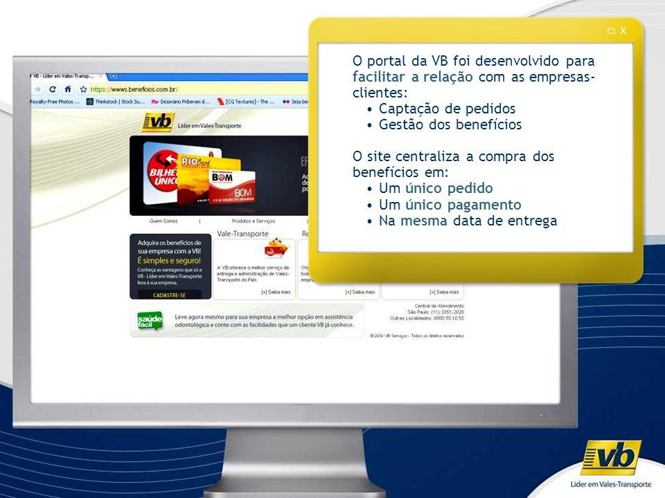 O site centraliza a compra dos benefícios em: Um único pedido