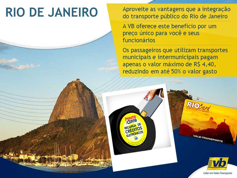 RIO DE JANEIRO Aproveite as vantagens que a integração do transporte público do Rio de Janeiro.