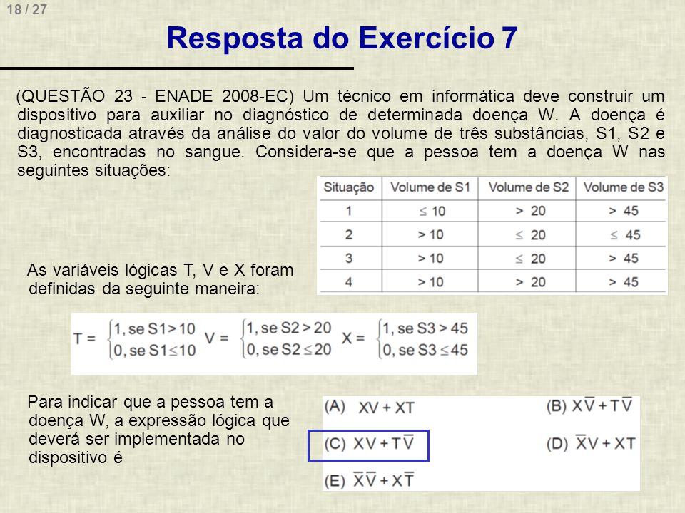 Resposta do Exercício 7