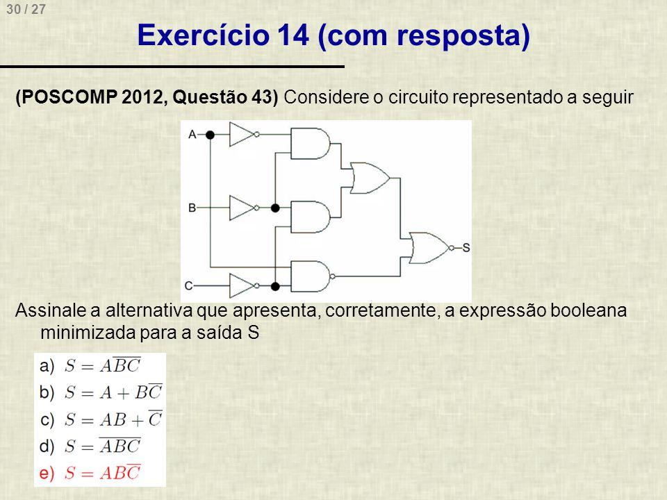 Exercício 14 (com resposta)
