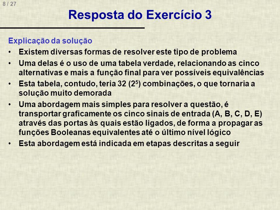 Resposta do Exercício 3 Explicação da solução