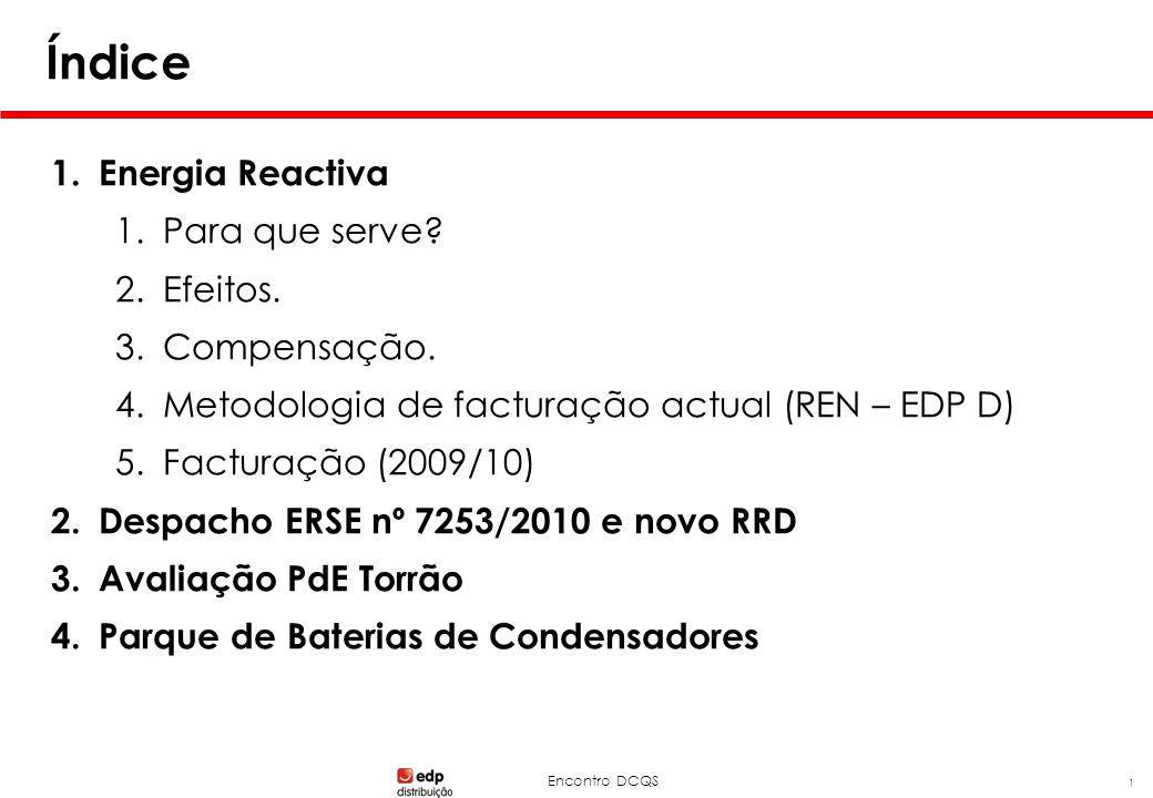 Energia Reactiva – Para que serve
