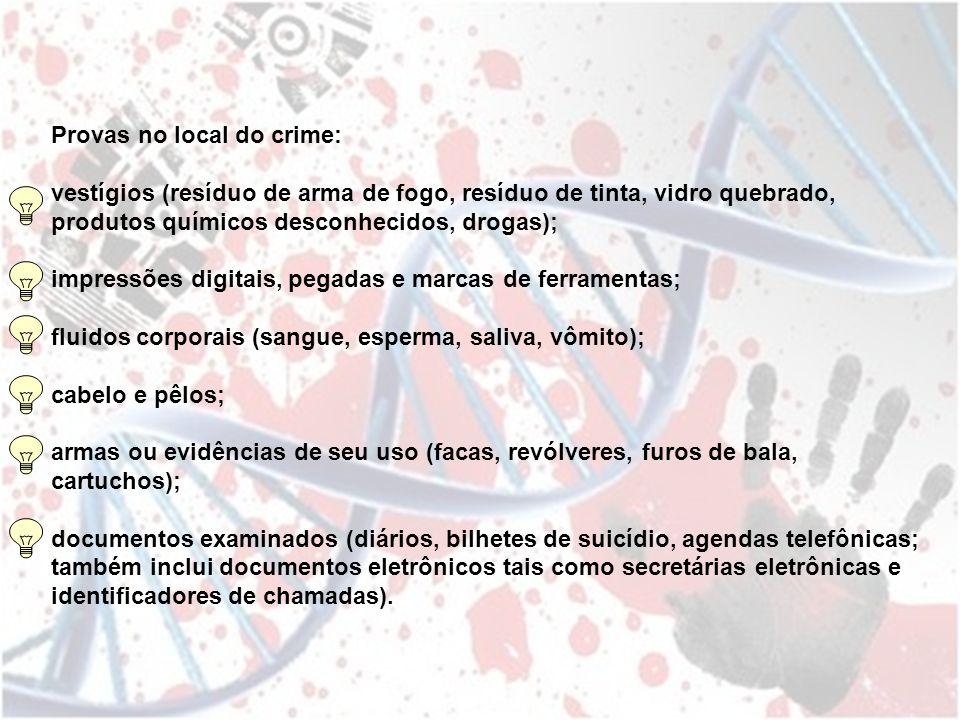 Provas no local do crime: