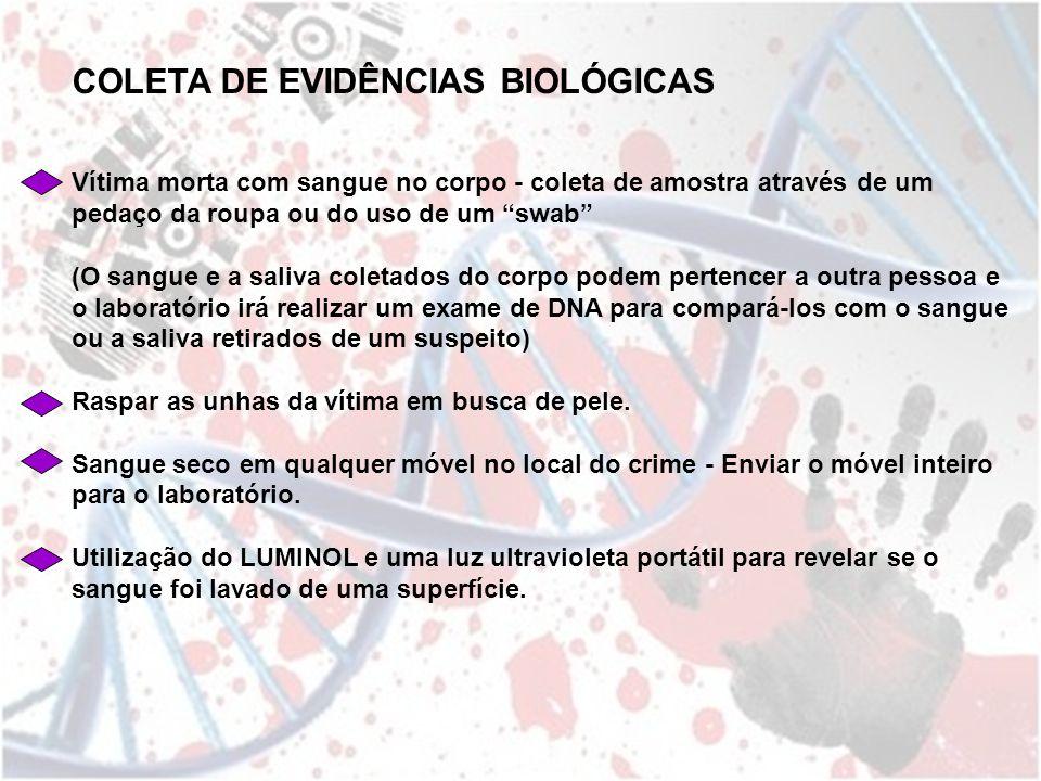 COLETA DE EVIDÊNCIAS BIOLÓGICAS