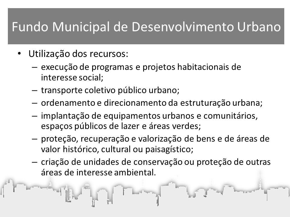 Fundo Municipal de Desenvolvimento Urbano