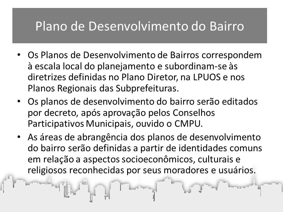 Plano de Desenvolvimento do Bairro