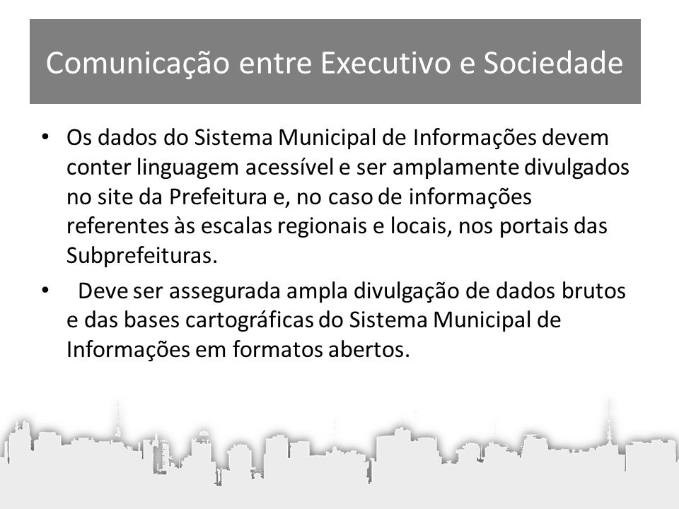 Comunicação entre Executivo e Sociedade