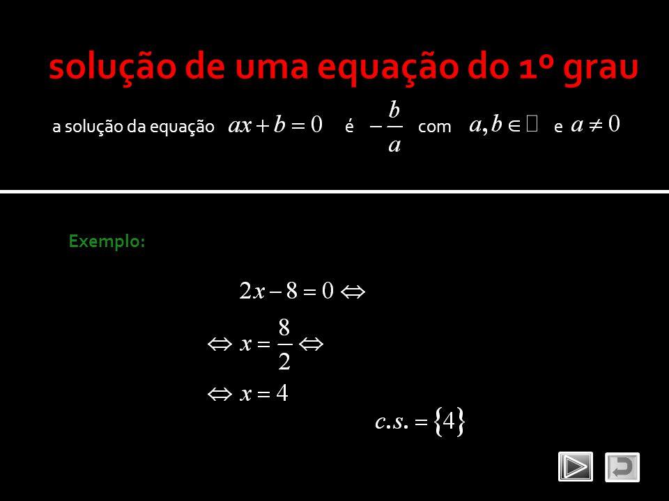 solução de uma equação do 1º grau