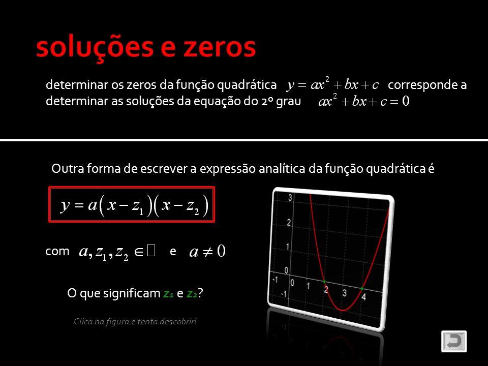 soluções e zeros determinar os zeros da função quadrática corresponde a.