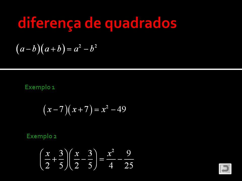 diferença de quadrados