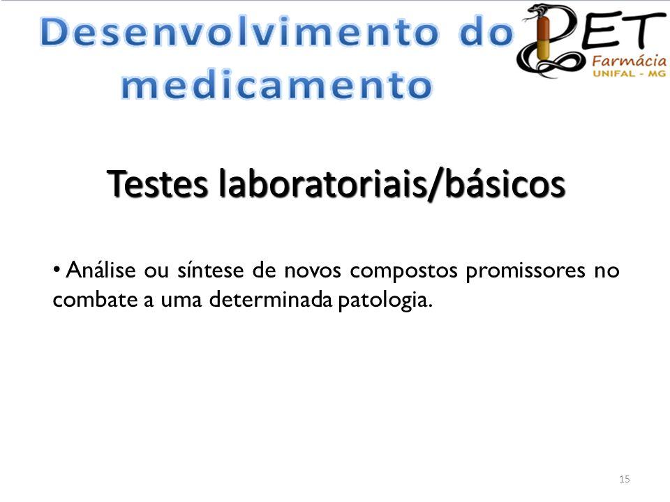 Testes laboratoriais/básicos