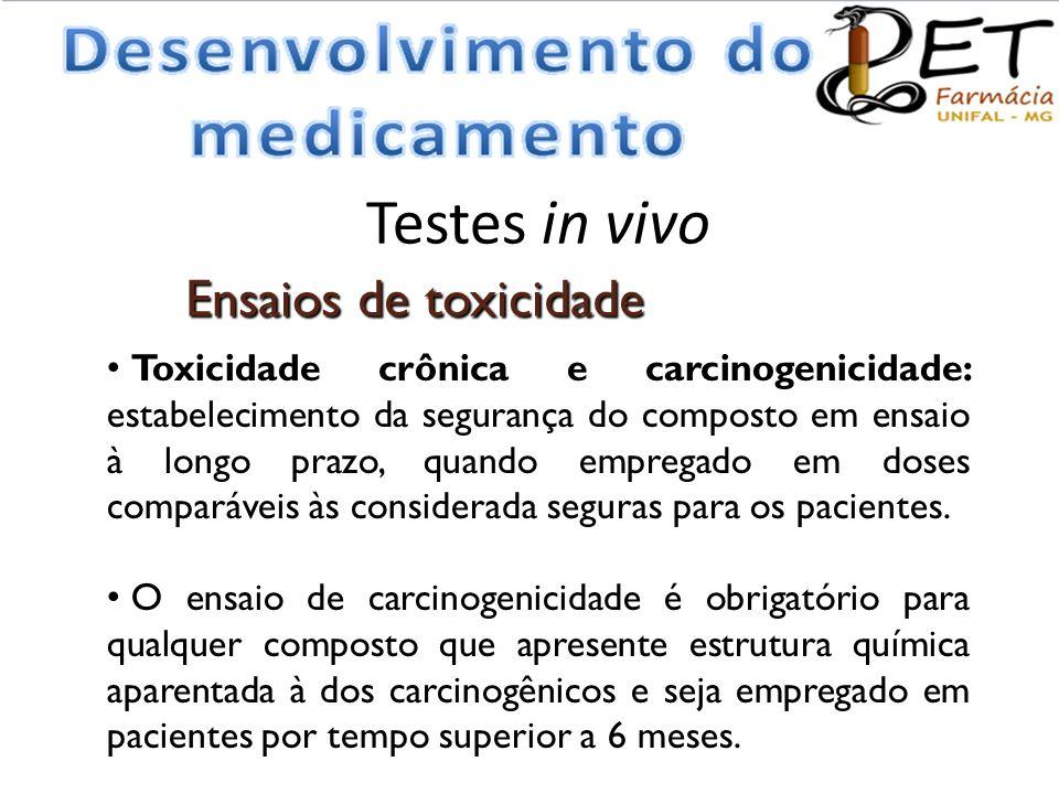 Testes in vivo Ensaios de toxicidade