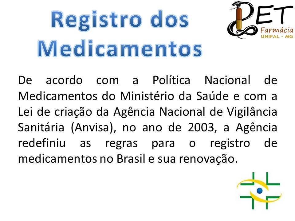 Registro dos Medicamentos