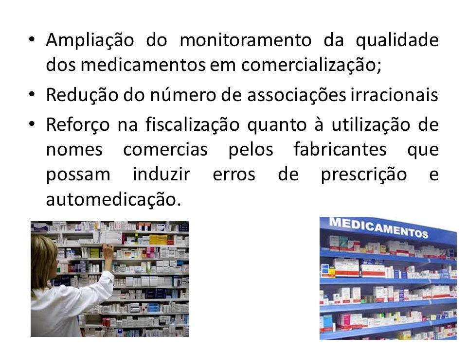 Ampliação do monitoramento da qualidade dos medicamentos em comercialização;