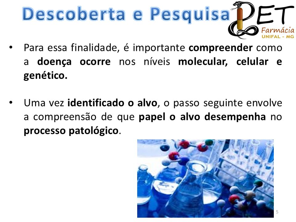 Descoberta e Pesquisa Para essa finalidade, é importante compreender como a doença ocorre nos níveis molecular, celular e genético.