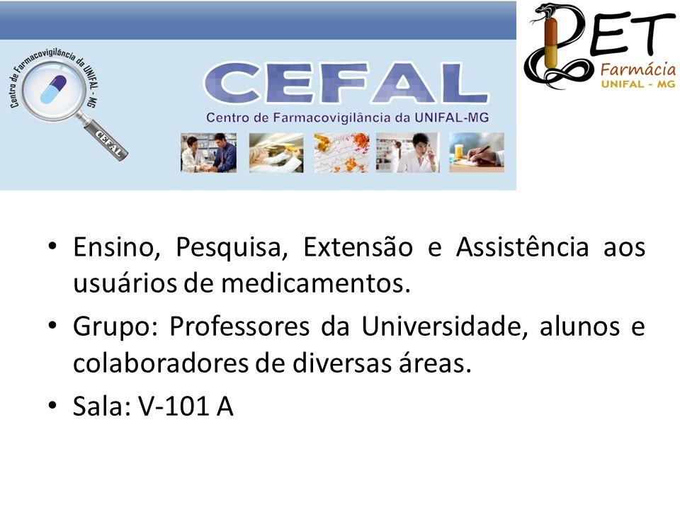 Ensino, Pesquisa, Extensão e Assistência aos usuários de medicamentos.