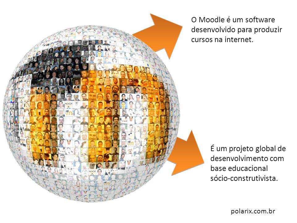 O Moodle é um software desenvolvido para produzir cursos na internet.