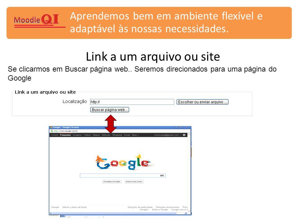 Link a um arquivo ou site