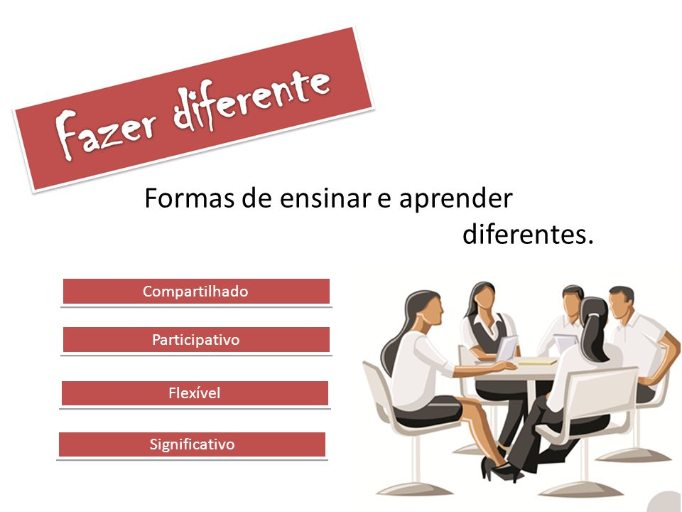 Formas de ensinar e aprender diferentes.