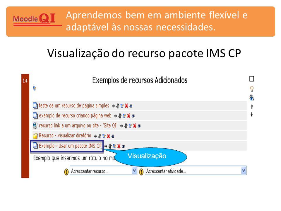 Visualização do recurso pacote IMS CP
