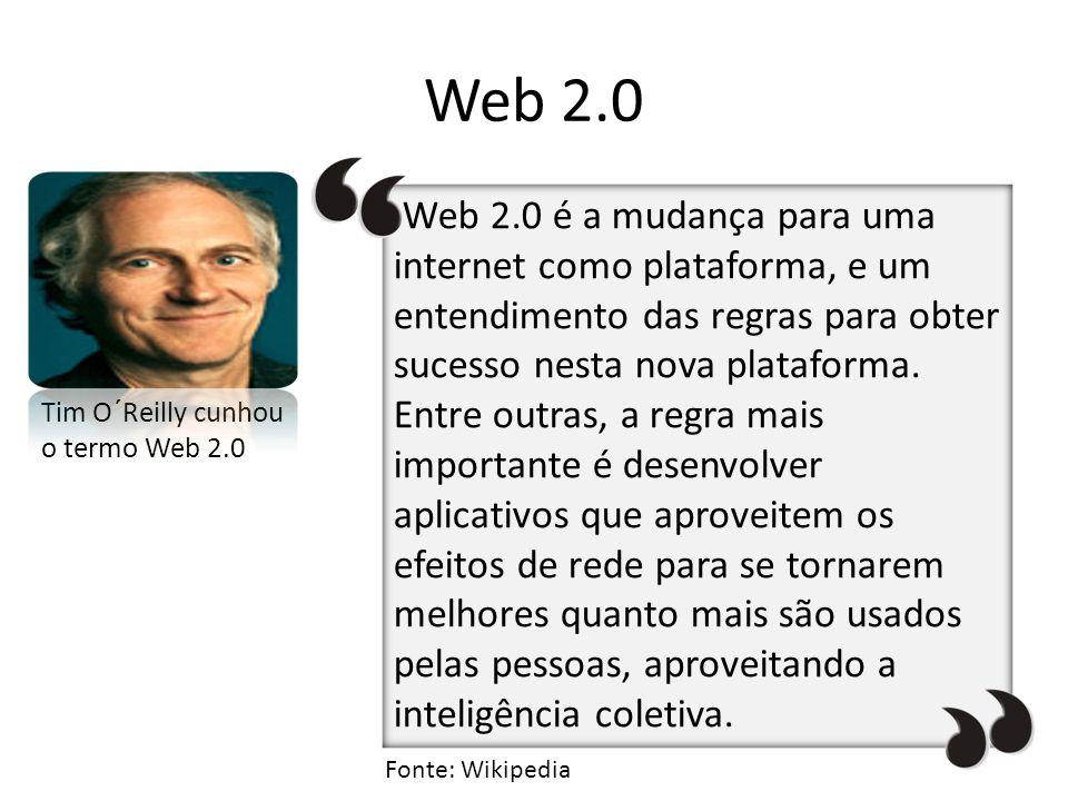 Web 2.0 Tim O´Reilly cunhou o termo Web 2.0.