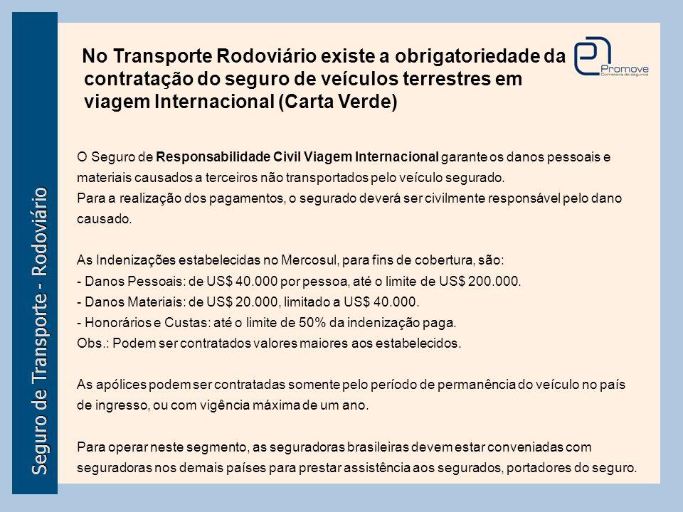 Seguro de Transporte - Rodoviário