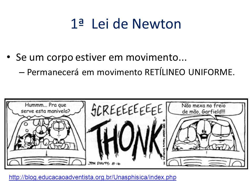 1ª Lei de Newton Se um corpo estiver em movimento...