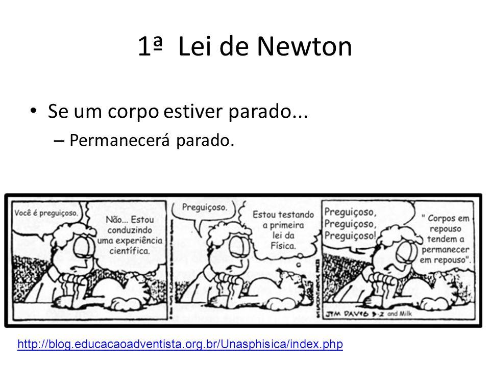1ª Lei de Newton Se um corpo estiver parado... Permanecerá parado.