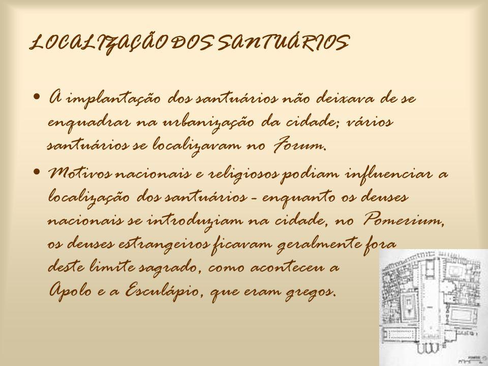 LOCALIZAÇÃO DOS SANTUÁRIOS