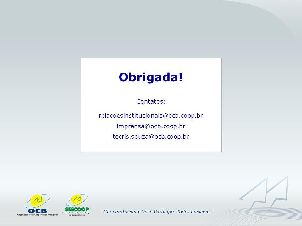 Contatos: relacoesinstitucionais@ocb.coop.br
