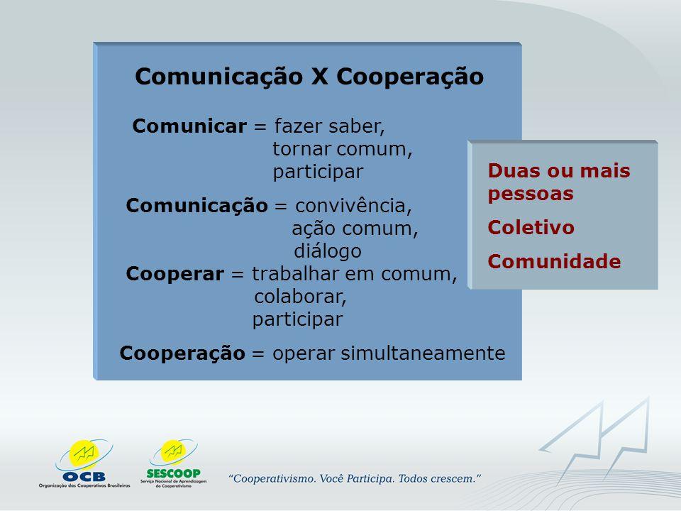 Comunicação X Cooperação
