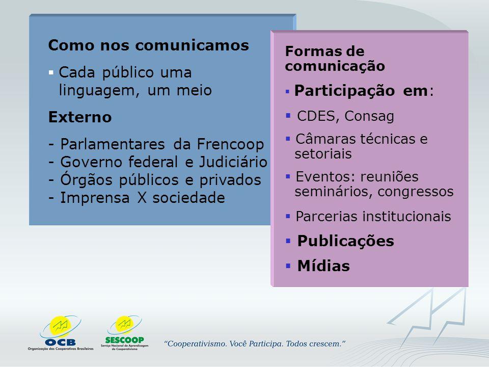 Como nos comunicamos Externo CDES, Consag