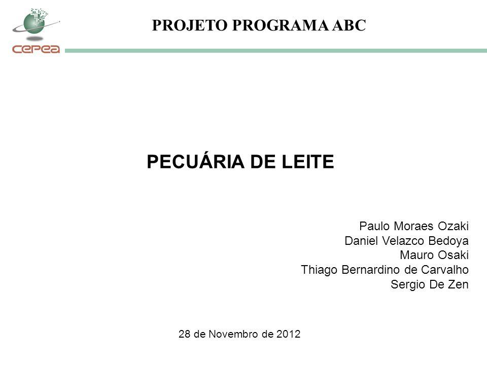 PECUÁRIA DE LEITE PROJETO PROGRAMA ABC