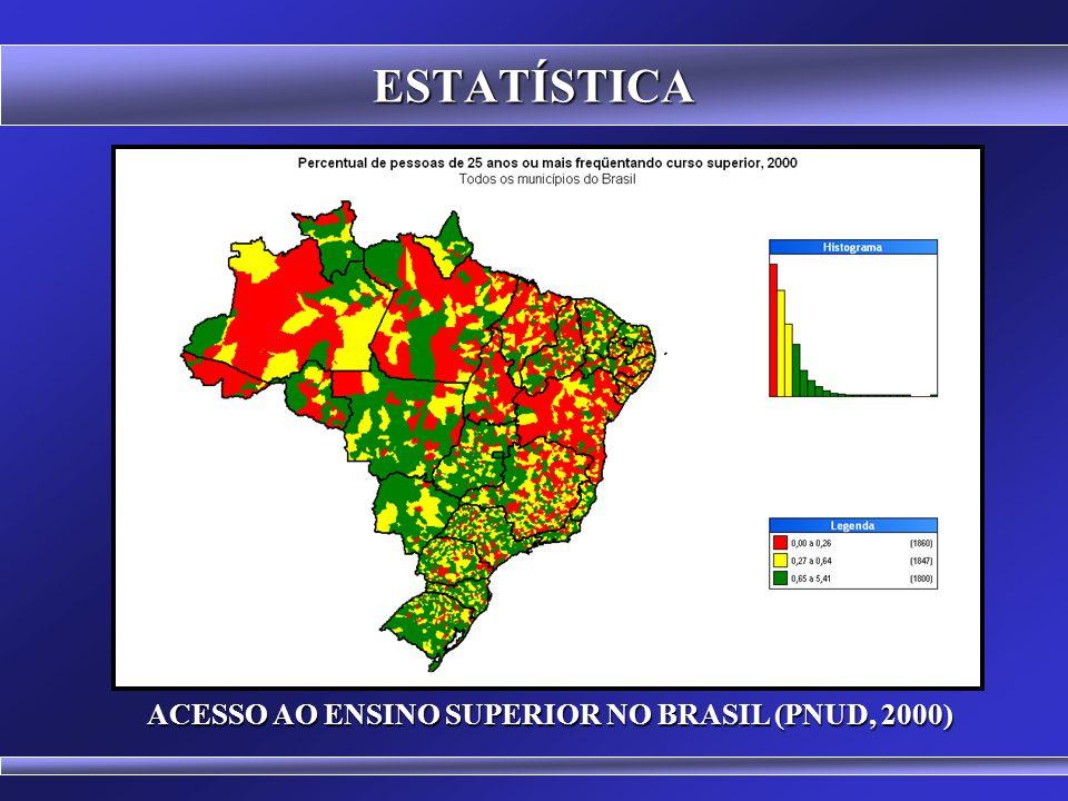 ACESSO AO ENSINO SUPERIOR NO BRASIL (PNUD, 2000)