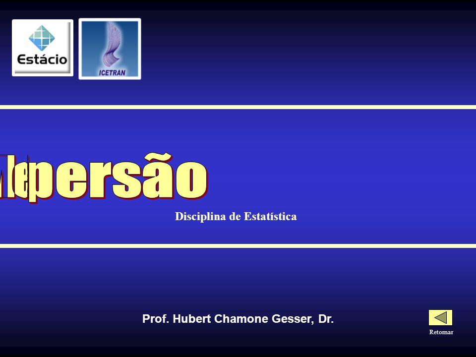 Disciplina de Estatística Prof. Hubert Chamone Gesser, Dr.