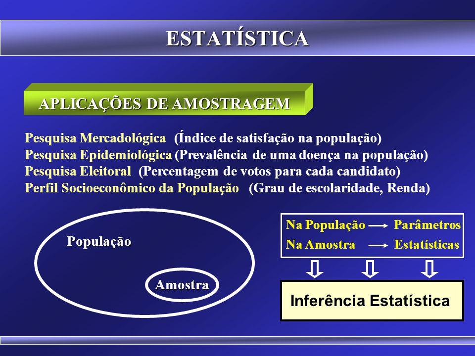 APLICAÇÕES DE AMOSTRAGEM Inferência Estatística