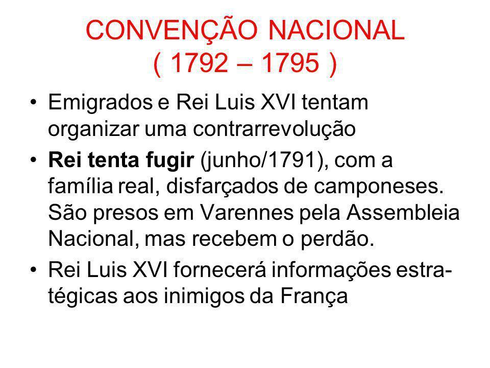 CONVENÇÃO NACIONAL ( 1792 – 1795 )