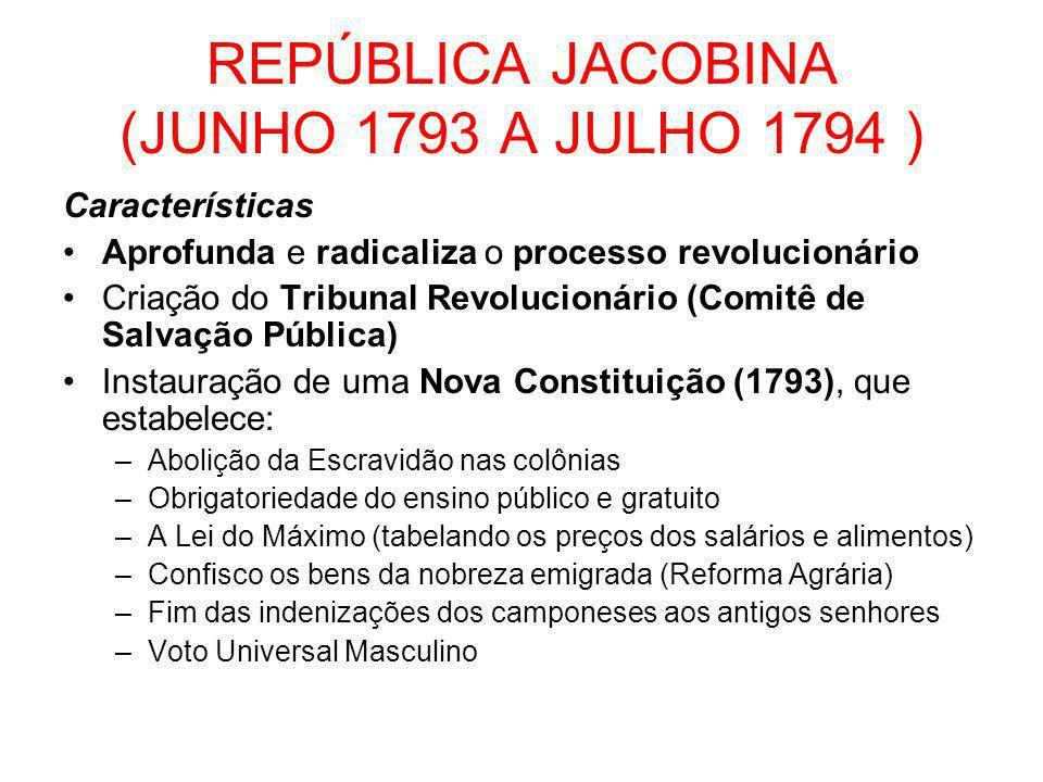 REPÚBLICA JACOBINA (JUNHO 1793 A JULHO 1794 )