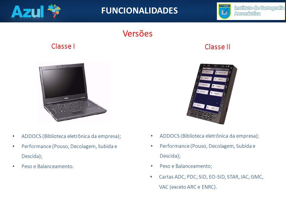 FUNCIONALIDADES Versões Classe I Classe II