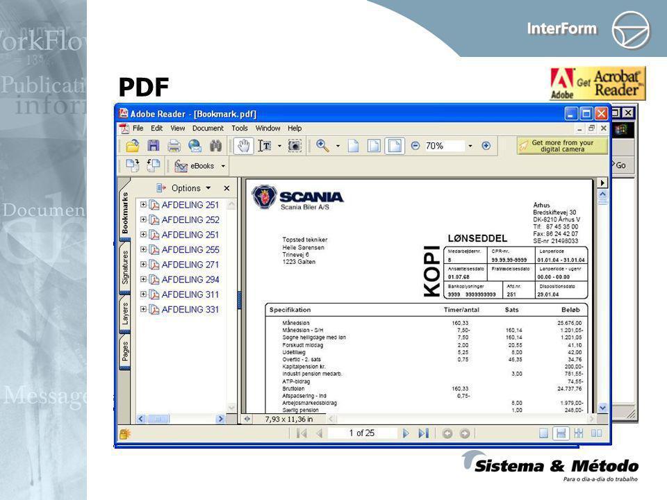 PDF Criar arquivos PDF Use Bookmarks Novo módulo: