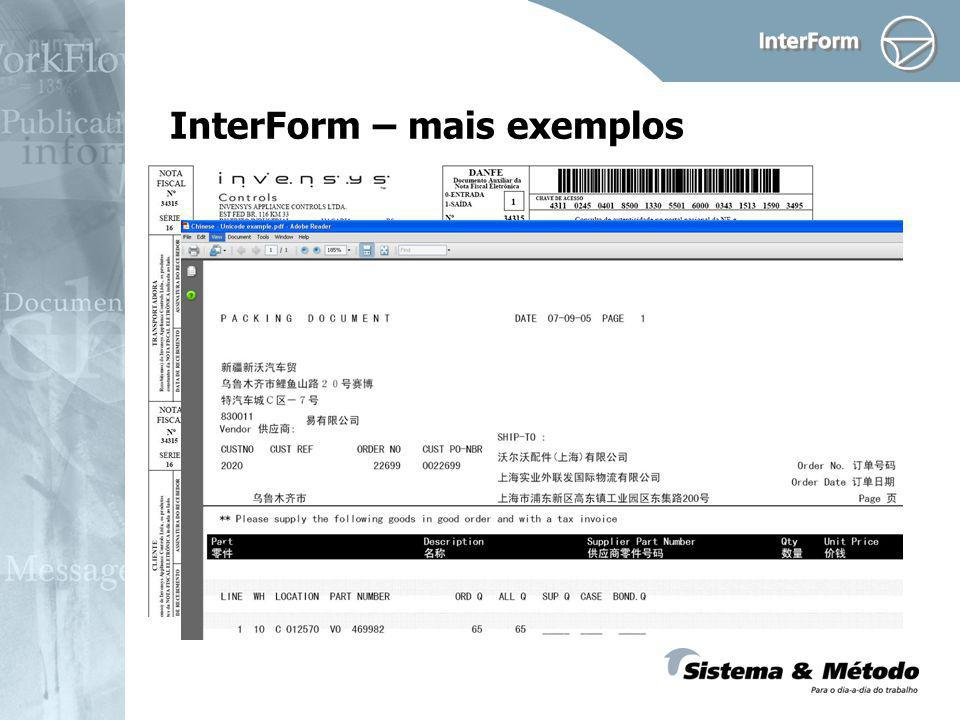 InterForm – mais exemplos