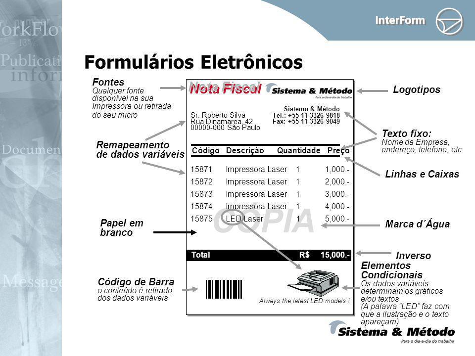 Formulários Eletrônicos